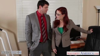 Glasses penny in cutie the redhead in fuck office pax naughtyoffice stockings