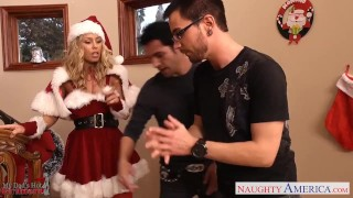 Aniston take two santa lovely dicks babe nicole pornstar naughtyamerica