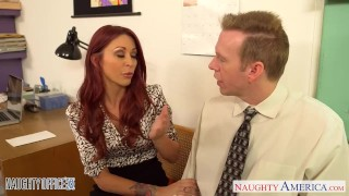 Alexander redhead babe in office fuck monique blowjob stockings