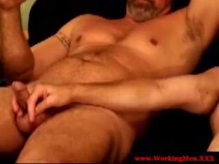 Straight truck driver sucking cock as pay...