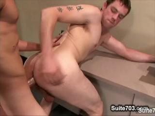 Horny office gays fucking