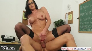 Brunette kendra lust teacher facialized gets big reverse