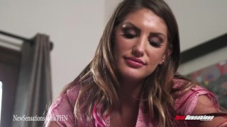 New Sensations - Babysitter August Ames Fucks Her Cheating Boss porno