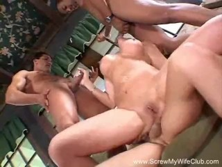 Interracial Swinger Wife Threesome In Front Of Husband