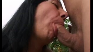 Takes gardener of the mature young advantage widower granny blowjob