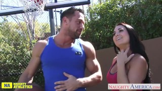 Babe athletic fucking holly chesty west doggy outside