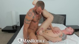 HD ManRoyale - Hot tattooed guy sucks a cock hard