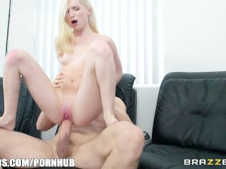 Nikita mirzani - Cute blonde with braces takes big cock - Brazzers