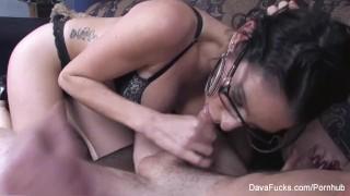 Dava Foxx Gives A Hot Blowjob