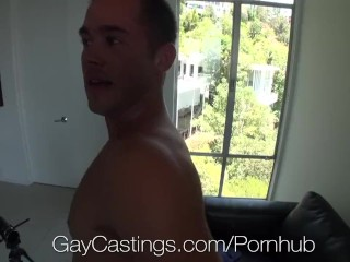 HD GayCastings – Hot straight guy with huge dick auditions for gay porn