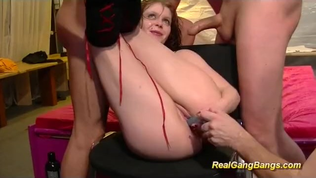 Willing pussy This flexible red head shows willing pussy in extreme acrobatic positions m
