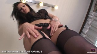 Extremely hot upskirt video of foot lover Sandra Shine