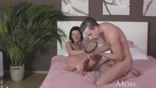 Cock mom milf hard of fucks guy sucks young horny shy and shot small