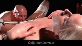 man fucks sex toy cumshot