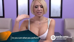 Live Show Interview Do You Cum, Kagney Karter