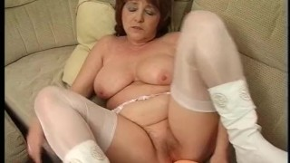 Old Horny Granny And Her Toys