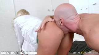 In shower show pounded brazzers aubrey gets the blonde reverse