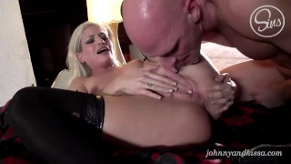 Johnny Sins & Kissa Sins rough squirting fuck and best creampie EVER Ebony milf