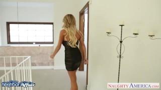 Sexy blonde Tasha Reign fucking her neighbor