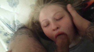 And touched over weekend blonde slut sucked gets the facial blowjob