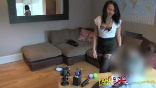 FakeAgentUK Amateur babe gives agent a pro blow job