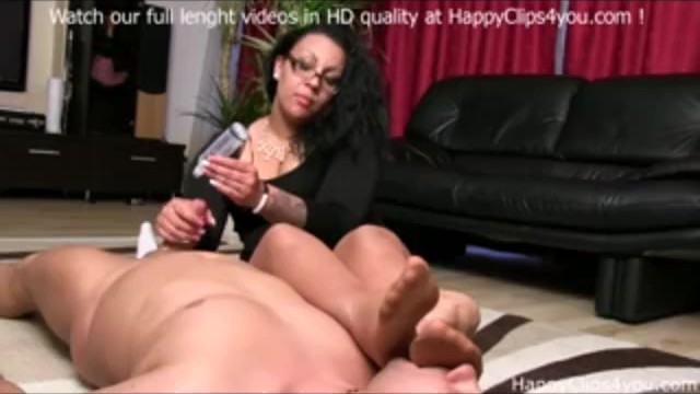 My penis always smells Foot smelling handjob by gina