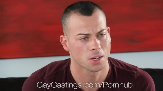Muscular stud with tattoos porn audtion