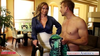 Nasty mom Eva Notty fucking dick with her tits Big shemale