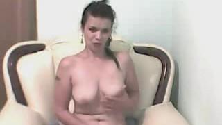 Her tranny masturbate cock busty ts fishnet