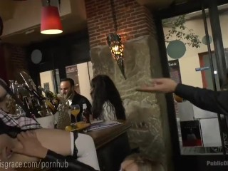 Busty Whore Humiliated In Public