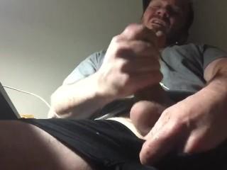 Solo masturbation intense orgasm and cum shot