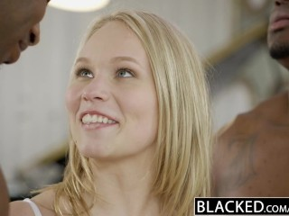 Blacked beautiful blonde dakota james screams with 2...