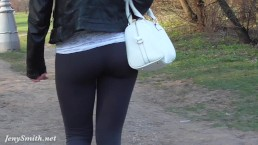 Jeny Smith see through yoga pants fetish