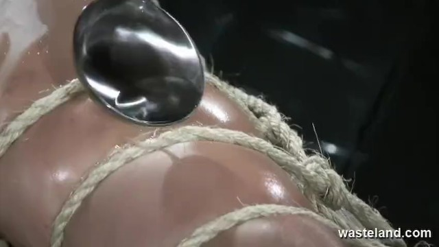 Girl getting bikini wax naked - Bound naked slave gets covered with hot wax and given orgasms