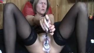 Extreme double blond fist milf fucked sado brush