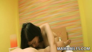 Haruka Fukuda - JAV Wife Hairy Pussy Licked And Fucked  cock riding clit rubbing hairy pussy wife cumshot jav cock sucking japanese haruka fukuda cowgirl orgasm pussy licking maikomilfs woman on top oral sex cheating wife