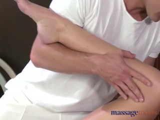 Preview 3 of Massage Rooms Flexible blonde enjoys hard cock in her perfect pussy
