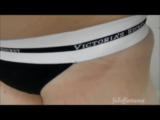 Pissing in Black Victoria's Secret Thong