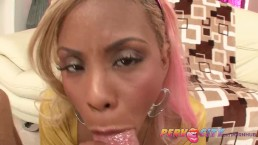 PervCity Interracial Deepthroat Blowjob