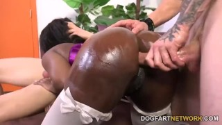 Preview 6 of Skyler Nicole Gets Her Ass Drilled By White Guys