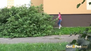 Screen Capture of Video Titled: Got2Pee Public Pissing Compilation 004