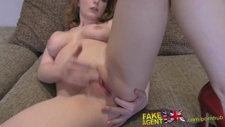 Couch librarian for facial petite huge casting on fakeagentuk hot interview busty