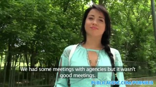 Publicagent black the sexy fucked woods russian in haired sex with