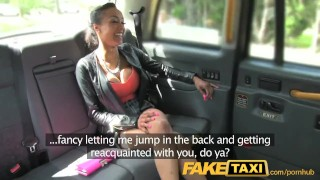 Faketaxi super with taxi lucky hot driver gets twice babe of spycam