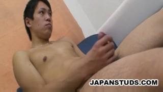 Kazuaki Sakamoto - Japanese Stud Lonely And Stroking Taboo blowjob