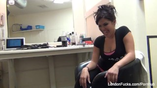 Watch what happens back stage and behind the scenes as London Keyes Masturbating masturbate