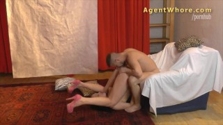 Reverse casting Sexy MILF tests a guy's licking skills