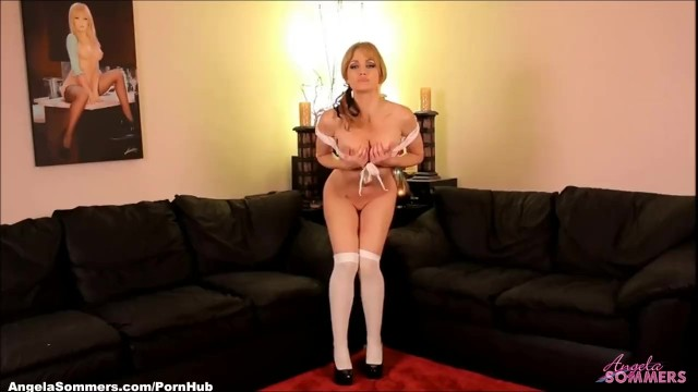 Angela jenkins naked - Busty schoolgirl doing a strip tease