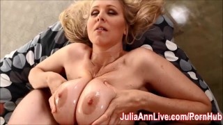 Busty MILF Julia Ann Demands Cum on Her Tits!