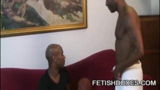 Kamrun and Cuba Santos - Kinky Black On Black Jockstrap Worship